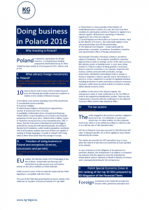 doing business in poland 2016 kg legal brochure